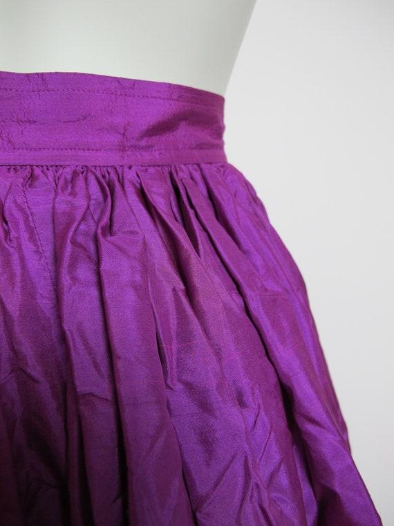RARE / 70s Yves Saint Laurent silk skirt / Saint … - image 7