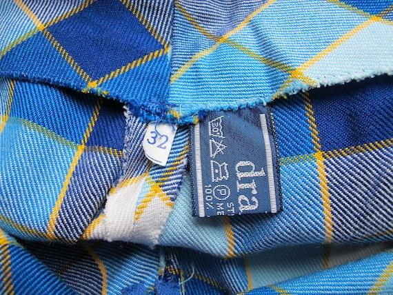 Rave check pants / 70s bell bottom pants / 70s ch… - image 8