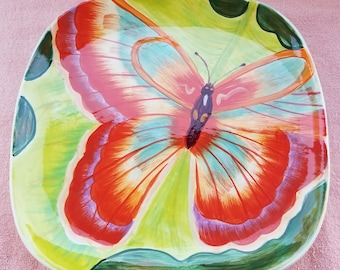 Butterfly Serving Tray Platter Home Essentials & Beyond Free Flight Made In PRC