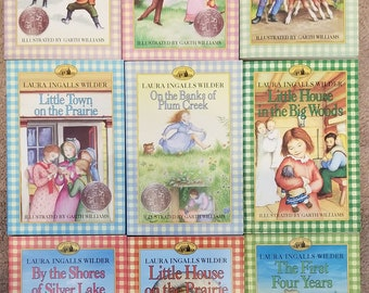 Vintage Little House on the Prairie  9 Book Boxed Set Laura Ingalls Wilder 1971