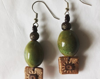 Polymer handmade earrings