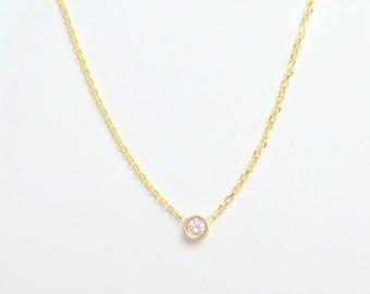 Gold diamond pendant etsy popular items for gold diamond pendant aloadofball Images