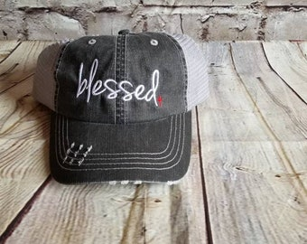 Distressed hat  08f19aebfc19