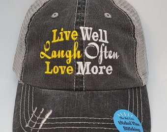 Live Love Ride Mesh Caps Adjustable Unisex Snapback Trucker Cap
