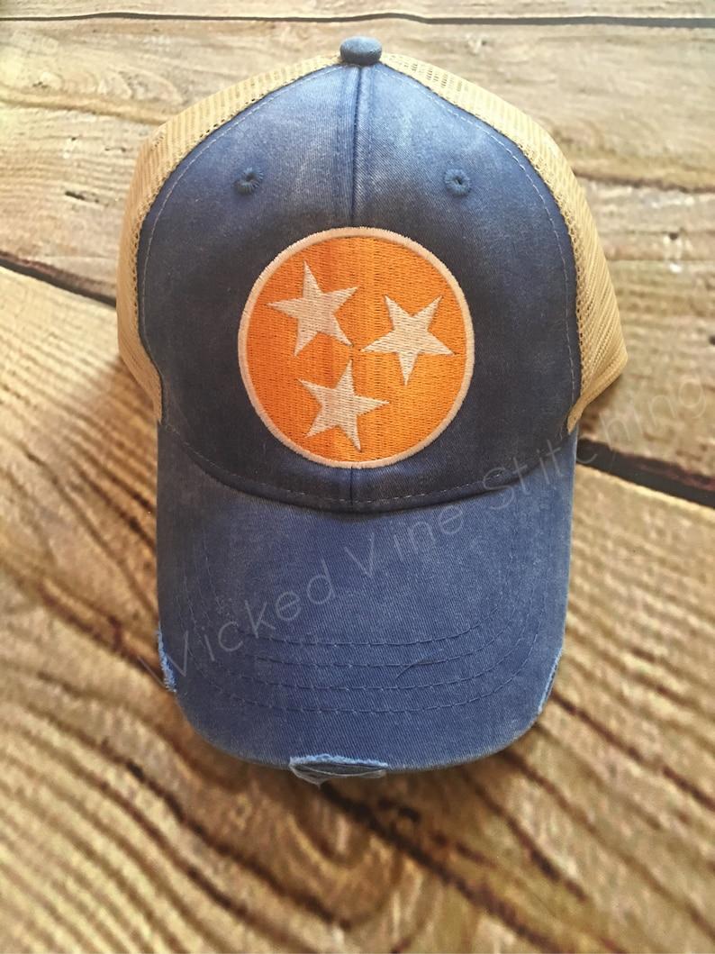 Tennessee Hat Tn hat Vols hat distressed hat womens  bc742d20373