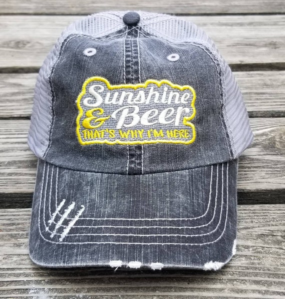 ae5137d7dbc Sunshine and Beer That's Why I'm Here distressed low | Etsy