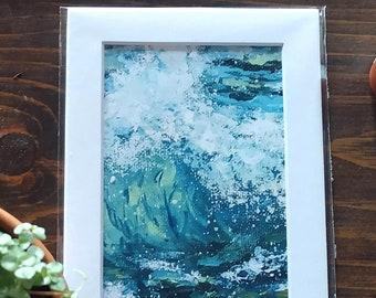 Crashing Wave Coastal Art Print, Coastal Wall Art, Crashing Wave Wall Art, Ocean Home Decor, Coastal Home Decor, Ocean Art Prints