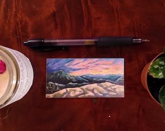 Vermont Art Vinyl Bombproof Sticker, Sunset Artwork, Waterproof/Scratchproof Vinyl Stickers, Nature Inspired Sticker, Sunset Decal stickers