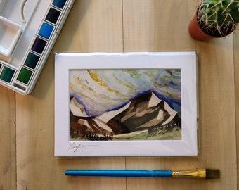 Watercolor Mountain Art Print, Vermont Mountain Watercolor Print, Watercolor Art Print, Mountain Home Decor, Nature Inspired Home Decor