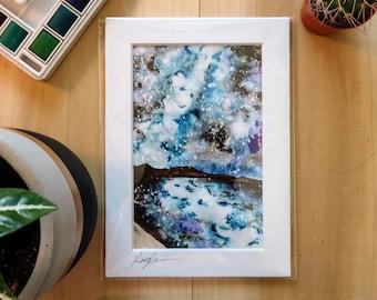 Ocean Watercolor Art Print, Ocean Home Decor, Ocean Art, Nautical Decor, Nautical Wall Art, Beach and Tropical Wall Art, Coastal Home Decor