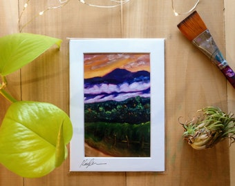 Foggy Morning Sunrise Over the Mountains, Vermont Landscape Art, Color Sunrise Home Decor, Sunrise Wall Art, Country Dirt Road Home Decor