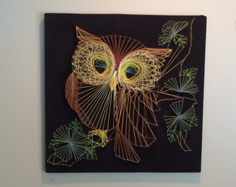 Owl Thread and Nail Art- 70's Vintage