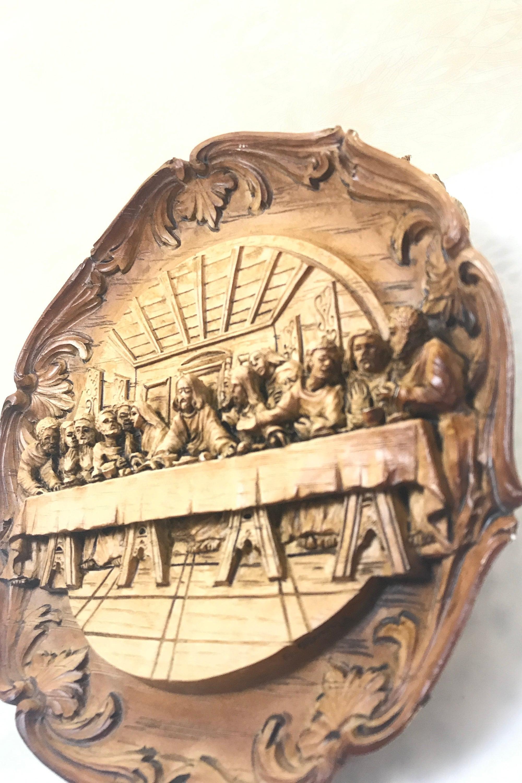 3D Last Supper Carved Wall Hanging Vintage Jesus Art | Etsy