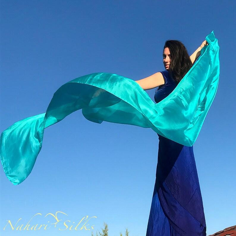 f5e62b707 Nahari Silks Womens 100% Silk Dance Scarves Veils Shawls Wraps | Etsy