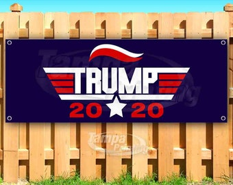Advertising Trump Pence 2020 13 oz Heavy Duty Vinyl Banner Sign with Metal Grommets Flag, Many Sizes Available Store New