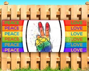 PEACE LOVE /& CBD Advertising Vinyl Banner Flag Sign Many Sizes