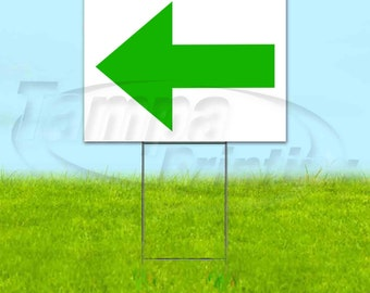Exit Left Arrow USA Includes Metal Step Stake Advertising Bandit New 18 x 24 Corrugated Plastic Yard Sign