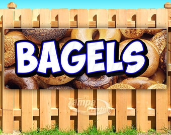Store Everything Bagel Pretzel 13 oz Heavy Duty Vinyl Banner Sign with Metal Grommets Many Sizes Available Flag, Advertising New