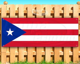 Flag, Many Sizes Available Advertising Caring for Puerto RICO Donation Location 13 oz Heavy Duty Vinyl Banner Sign with Metal Grommets Store New