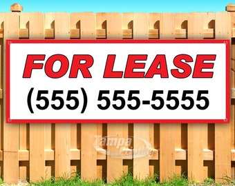 Many Sizes Available Advertising New Doctors Office for Lease Phone Number Store 13 oz Heavy Duty Vinyl Banner Sign with Metal Grommets Flag,