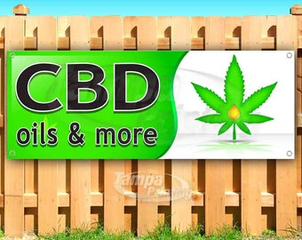 New CBD The Natural Alternative 13 oz Heavy Duty Vinyl Banner Sign with Metal Grommets Advertising Many Sizes Available Store Flag,