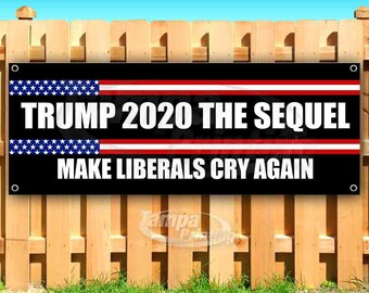 TRUMP BUILD THE WALL Advertising Vinyl Banner Flag Sign Many Sizes