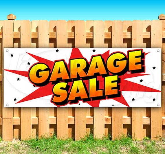 12x3 Garage Sale CGSignLab Victorian Card Heavy-Duty Outdoor Vinyl Banner