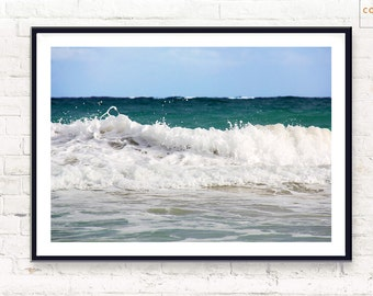 Beach Wall Art ~ Ocean Print ~ Beach Home Decor ~ Printable Poster ~ Digital Download ~ Wall Art ~ Digital Print ~ Beach Art ~ Waves Photo