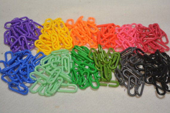 50 Big Plastic C Links Diy Bird Toys Sugar Glider Toys And Other Small Animal Toys