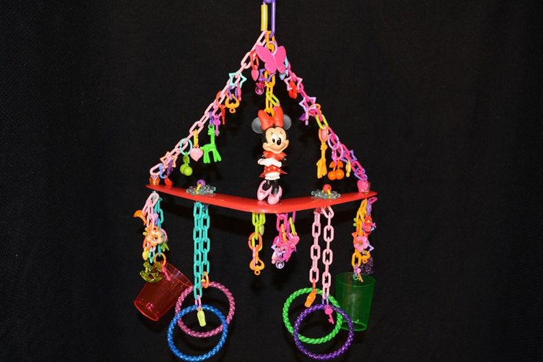Small Pet Toy Small Bird Toy Bird Toy Primate Toy Minnie 79: Sugar Glider Toys Exotic Animal Toy Parrot Toy Marmoset Toy Mini Mobile
