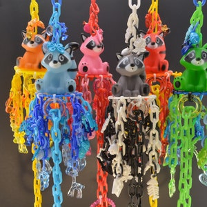 Pulley Toy Sugar Glider Toy #193 Parrot Toy, Marmoset Toy Mini Mobile Exotic Animal Toy Small Pet Toy Primate Toy Small Bird Toy
