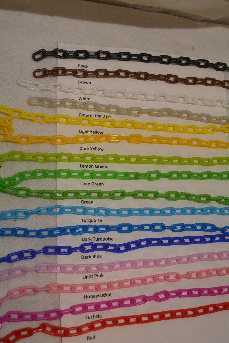 10 feet High quality 3mm plastic chain for craft sugar gliders and other small animal toys. DIY bird toys