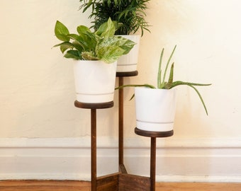aaca282c1120 Indoor Plant Stand and Wooden Planter with 3-6