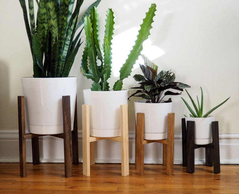 Wooden Planter Stands Minimalist Potted Plant Stand Modern image 0