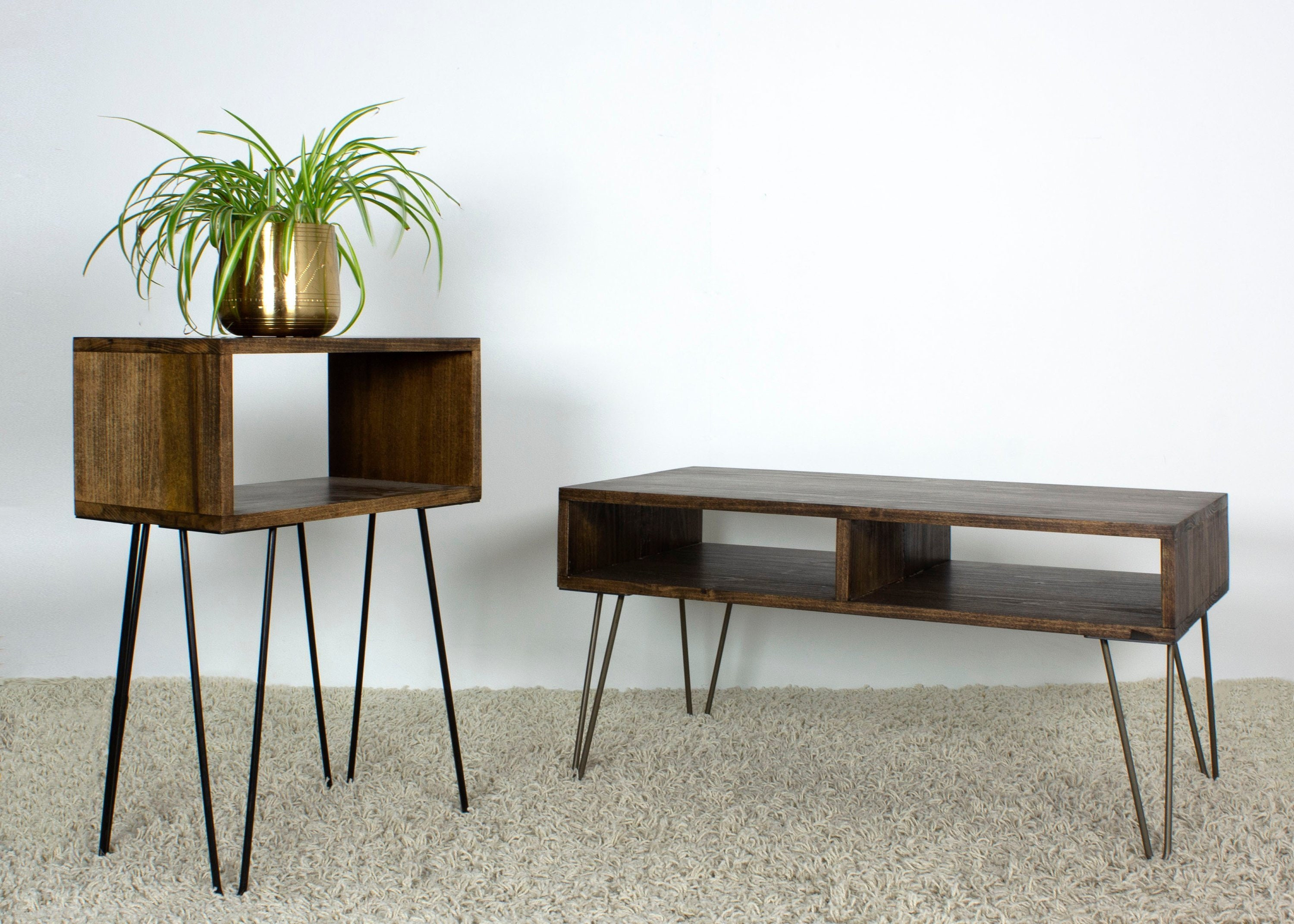 Mid Century Modern End Table Bedroom And Living Room Etsy