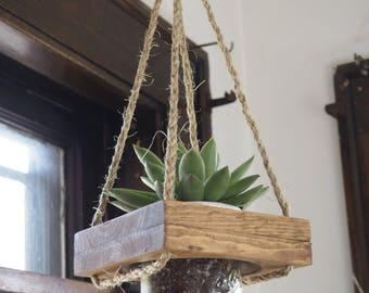 Hanging Planter, Modern Planter, Succulent Planter, Live Succulent,  Mason Jar Planter, Rustic Planter, Hanging Plant, Plant Holder