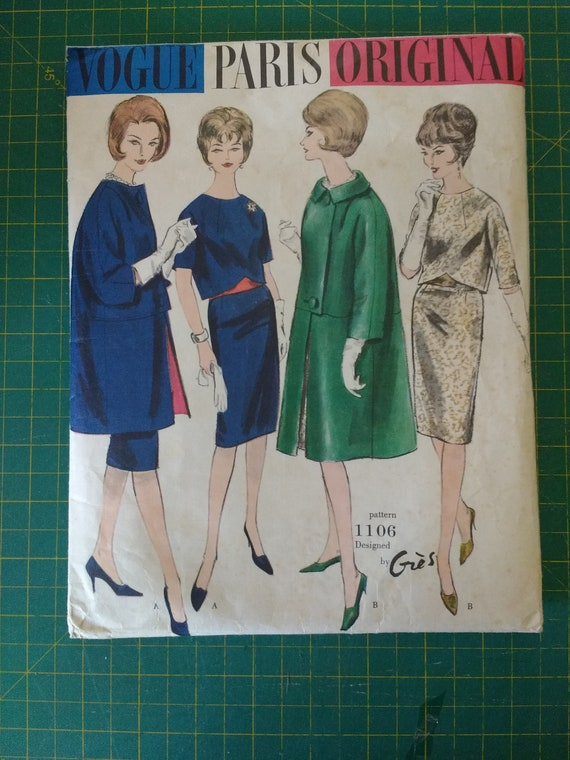 1960's Madame Gres,  Vogue Paris Original sewing p