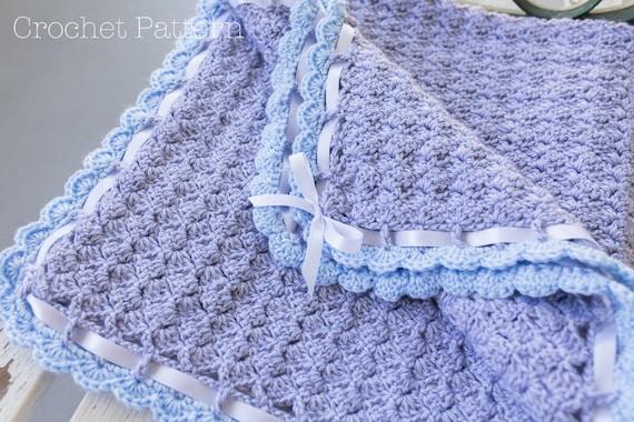Baby Blanket Crochet Pattern Crochet Afghan Pattern Scallop Etsy