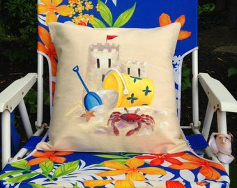Beach Day Pillow Cover