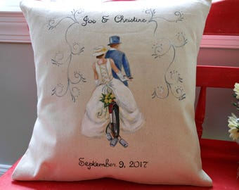 Newly Weds Pillow cover