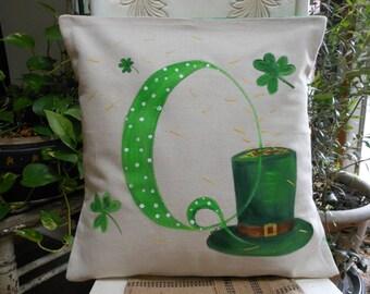 Monogram St. Patrick's Day Pillow