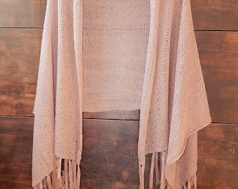 brown stole,brown tippet,openwork stole,Bride Scarf, bride's wrap,cacao