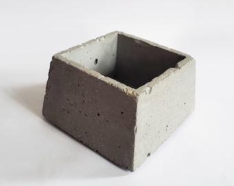 TRAP geometric concrete planter / trapezoid catch all / ring dish / industrial decor / minimalist accent / interior design / small vessel