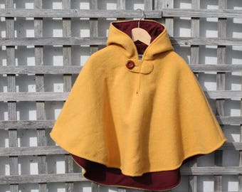 Lined Wool Cape