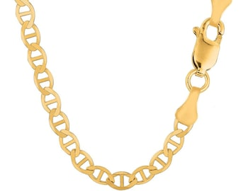 cc548fc98 14K Solid Yellow Gold 6.0mm Mariner Link Chain / Necklace Jewelry Anchor Gucci  Link All Sizes 20'' - 24'' Inches Jewelry Gift