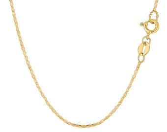 5684dd37a 14K Solid Yellow Gold 1.2mm Mariner Link Chain / Necklace Thin Dainty  Jewelry Anchor Gucci Link All Sizes 16'' - 20'' Inches Jewelry Gift
