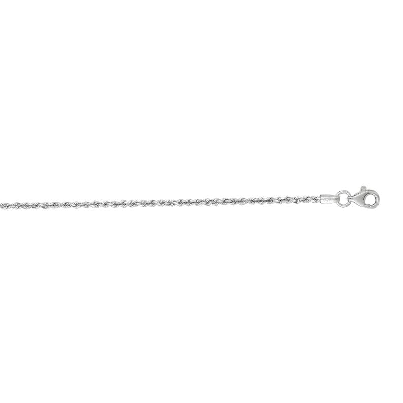 30/'/' Inches #WR012 16/'/' 24/'/' 18/'/' 14K SOLID WHITE GOLD Diamond Cut Royal Rope Chain 1.5MM Pendant Chain 7/'/' 20/'/' 22/'/'