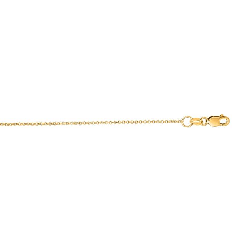 18 inch 20 inch 14K White Gold 1.5 Rolo Chain in 16 inch