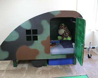 Custom Kids Bed Girls Boys Frame Handmade Plans Childrens Camper