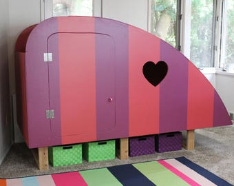 Kids Playhouse / Kids Bed / Playhouse Bed / Twin Bed Plans / Girl Bed / Boy Bed / Childrens Bed / Build your own Bed / Fun Bed / Camper Bed